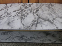 SOLD-Formica table- marble pattern