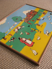 BELL toys-Wall Art- vintage wooden puzzle