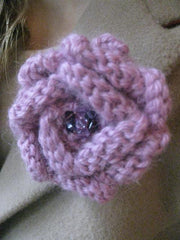 Corsage- BROOCH-Lilac sparkle.