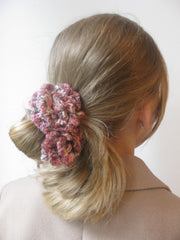 Corsage: HAIR BAND- Raspberry ripple.