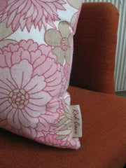70's Pink Vintage fabric cushion-V.LIMITED stock