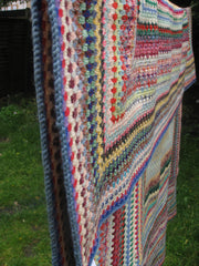 Vintage technicolour crochet blanket-SOLD.
