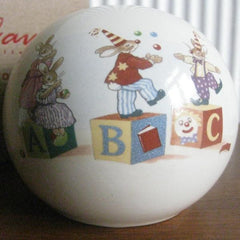 Vintage ''Bunnykins'' Royal Doulton money ball box.