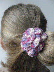 Corsage: HAIR BAND-Patchwork pinks.