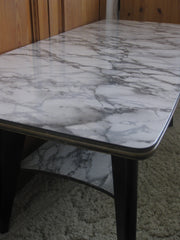 Formica table-Grey marble pattern-SOLD.