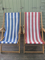 Vintage striped deckchairs-SOLD OUT