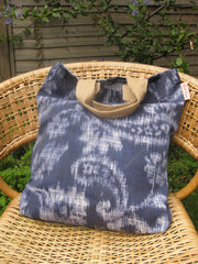 Indigo Giant Paisley print Tote Bag- SOLD OUT