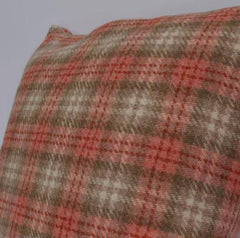 Cushion in rustic checked wool