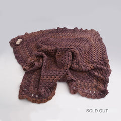 Hand-crocheted laptop cosy snug in soft, medium-weight wool-SOLD OUT
