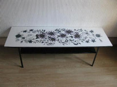 1960's Pretty flower formica coffee table
