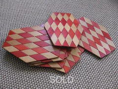 8 x wooden harlequin placemats/coasters --- Sold