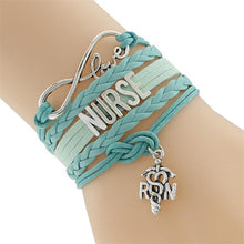 Love Registered Nurse Infinity Bracelet (Available in Different Colors)