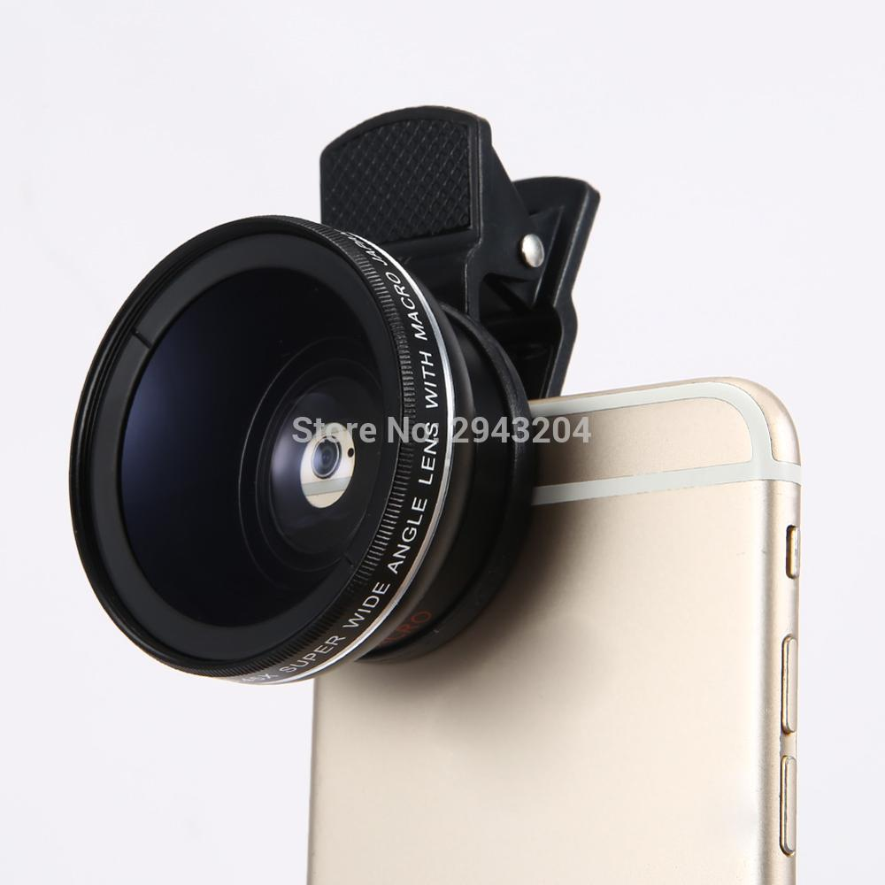 Super Wide Angle Lens with 12.5x Super Macro Lens for iPhone 6 Plus 5S 4S Samsung S6 S5 Note 4