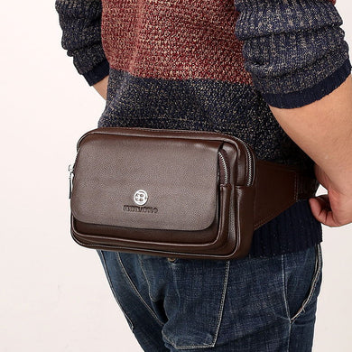 Leather Fanny Pack (Black or Brown)