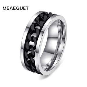 Punk Rock Fashion Men's Rings 3 Colors (USA Size 6-15)
