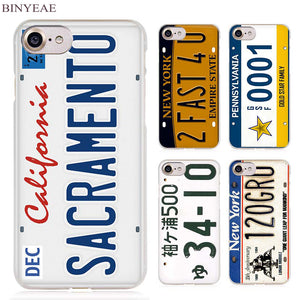 57fa2693f60 License plate number Cell Phone Case for Apple iPhone 4 4s 5 5s SE 5c 6