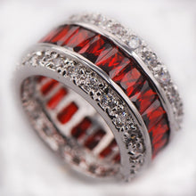 Multi Colored Sterling Silver Jewelry Ring Size 6-12