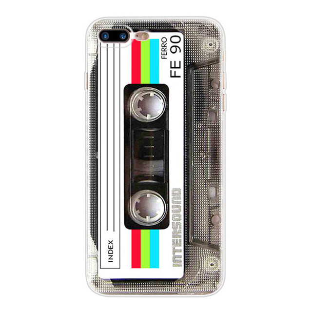 Cassette - Funny Soft TPU Case for iPhone 5 5S SE 6 6S 7 8 Plus X