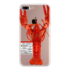 Lobster - Funny Soft TPU Case for iPhone 5 5S SE 6 6S 7 8 Plus X