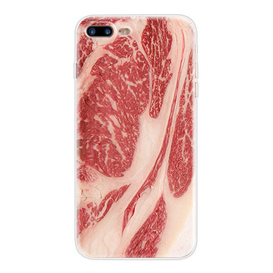 Meat - Funny Soft TPU Case for iPhone 5 5S SE 6 6S 7 8 Plus X