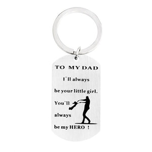 TO MY DAD Hero Tag (Pendant & Necklace OR Key Chain)