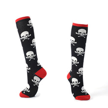 Funny Crazy Cartoon Character Knee High Cotton Socks For Women/ Girls