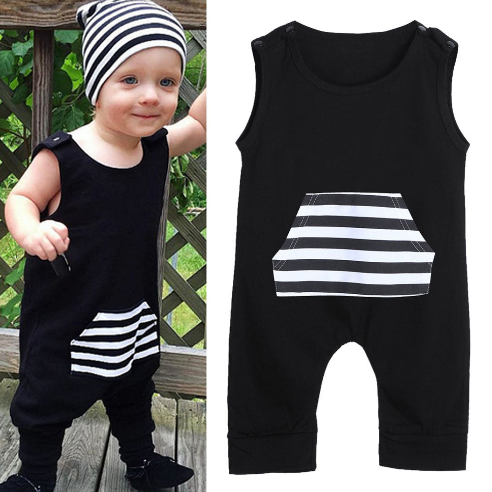 Sleeveless Boys Romper (hat not included)  6M - 24M