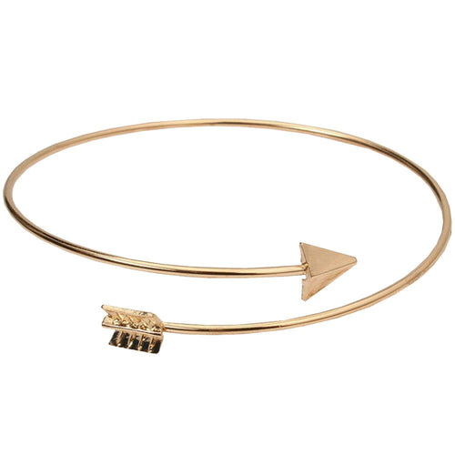 Susenstone Simple Women Punk Rock Arrow Bangle Bracelet