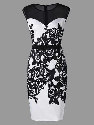 Sleeveless Formal Bodycon (XL - 5XL)