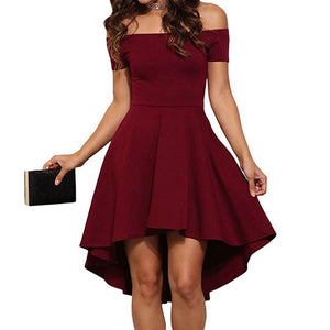 Off the Shoulder Asymmetrical Dress (S - XL)