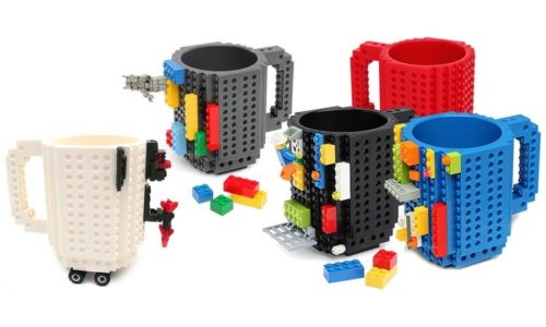 1Pc 12oz Build-On Brick Mug