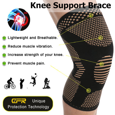 Wirefree Elastic Sports Knee Sleeve (Brace)
