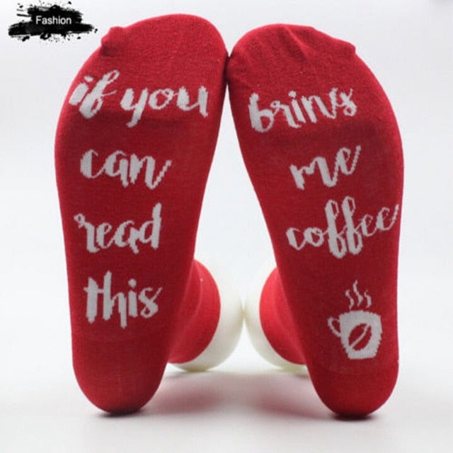IF YOU CAN READ THIS Silly / Funny / Crazy Socks