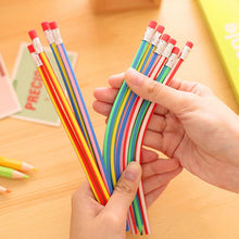 Color Flexible, Bendable Pencil with Eraser 5 Piece(s)