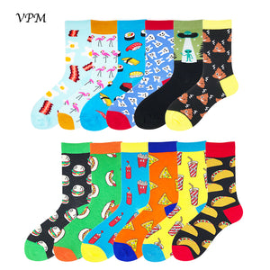 Unisex Crazy Fun Colorful Food Alien Socks