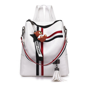 Retro Shoulder Bag/ Back Pack with Tassel (2 Colors Available)