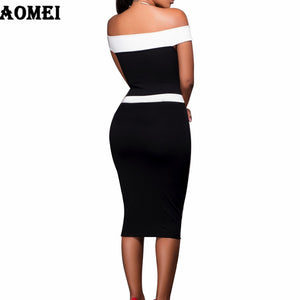 Black White Chic Tube Dress (S -XL)
