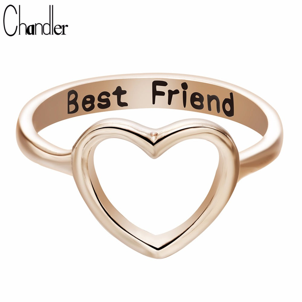 Brand Best Friends Heart Shaped Ring