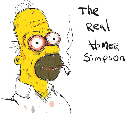 "The ""Real"" Homer Simpson illustration by Lance Ingwersen"