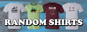 Random Shirts.  Examples of our funny, Christian clothing.