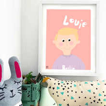 Load image into Gallery viewer, Personalised Portrait & Colour Me Poster