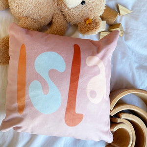 Personalised velvet cuddle cushion