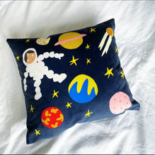 Load image into Gallery viewer, Astronaut velvet cushion