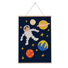 Load image into Gallery viewer, Space man print navy