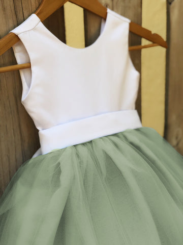 Sage Green Sarah Flower Girl Dress