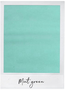 Mint Green Satin and Tulle Swatch