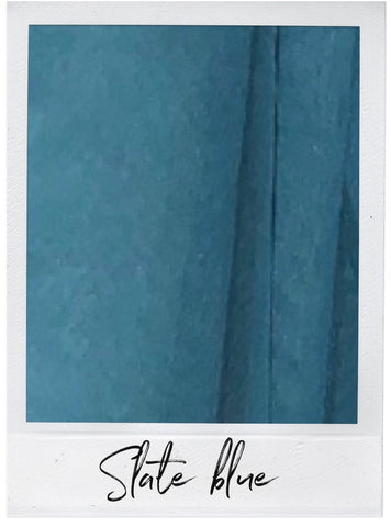 Slate Blue Satin and Tulle Swatch