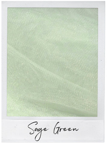 Sage Green Satin and Tulle Swatch