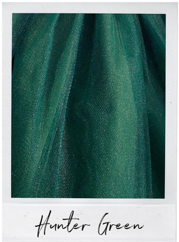 Hunter Green Satin and Tulle Swatch