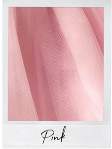 Pink Satin and Tulle Swatch